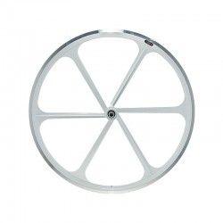 "Fixed Rear wheel 28"" 6-spoke white RMS - 1"