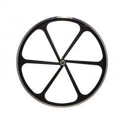 """Fixed Rear wheel 28"""" 6-spoke black RMS - 1"""