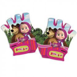 Gloves child Masha and Bear