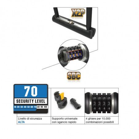 Lucchetto Onguard Arco Bulldog Combo Mini 90x140mm vendita online