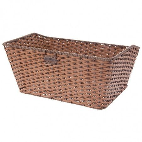 Basket in Faux Leather rectangular honey