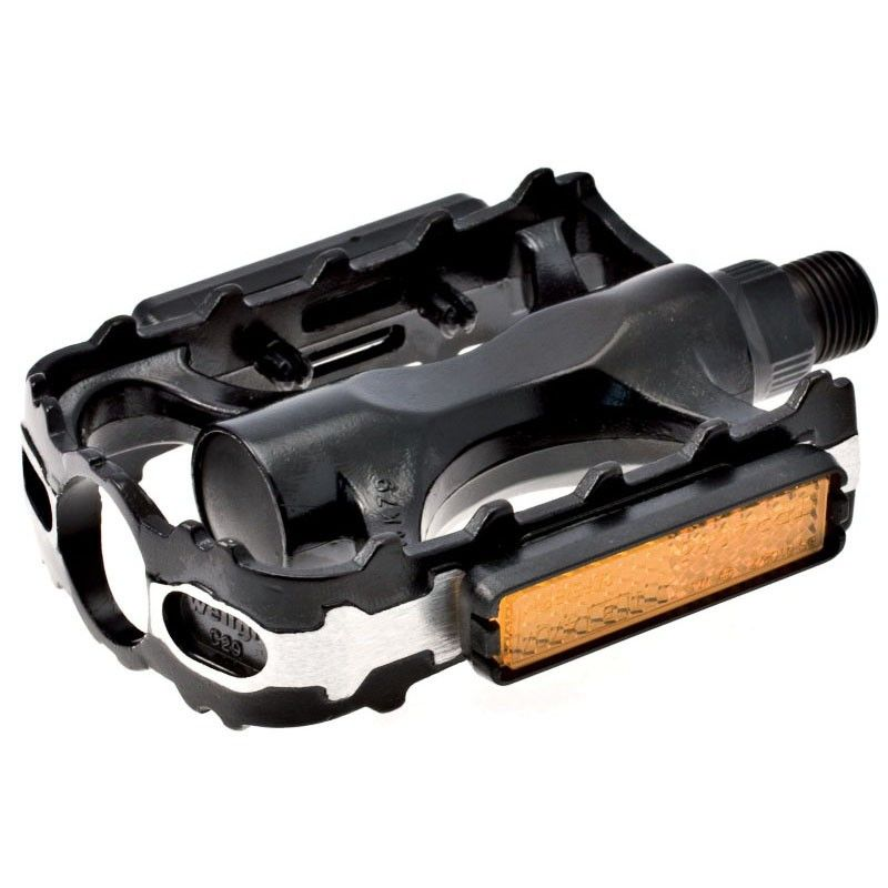 Couple of MTB pedals in aluminum and black steel  - 1