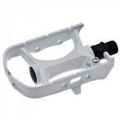Coppia pedali Urban Mtb/Corsa/Fixed in alluminio bianco
