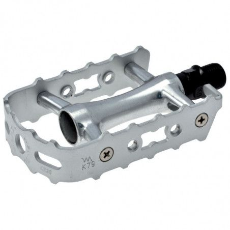 Couple of Pedals MTB all aluminum silver