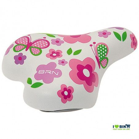 Child bike Saddle for 16-20 white flower online shop