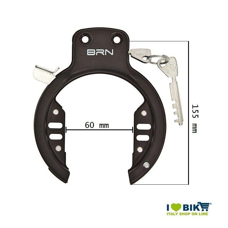 Padlock with 2 screws BRN BRN - 1