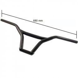 black steel BMX Handlebar 22.2 mm width 650 mm  - 1
