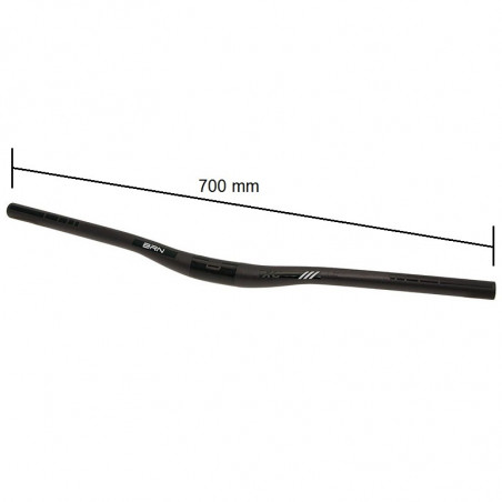 BRN MTB bike handlebar Aluminum Black OVER online sale