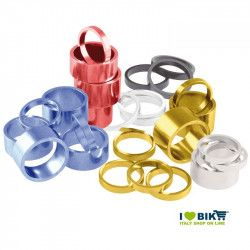 """Spessore sterzo per ciclo in alluminio anodizzato 1""""1/8 - 5 mm vendita online"""