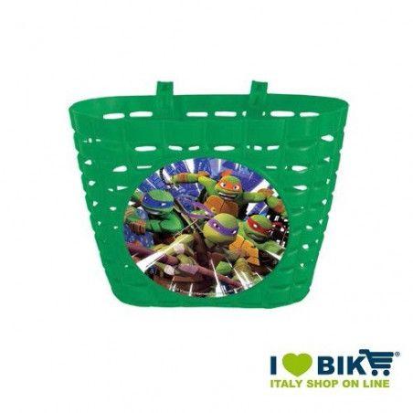 Cesto bicicletta bimbo Tartarughe ninja vendita online