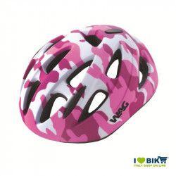 Casco bicicletta sky kid militare rosa taglia S vendita online