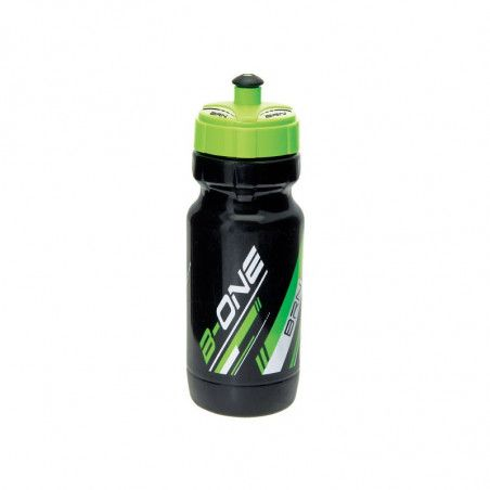 BRN B-ONE 600ml water bottle. - Black / fluorescent green bike shop