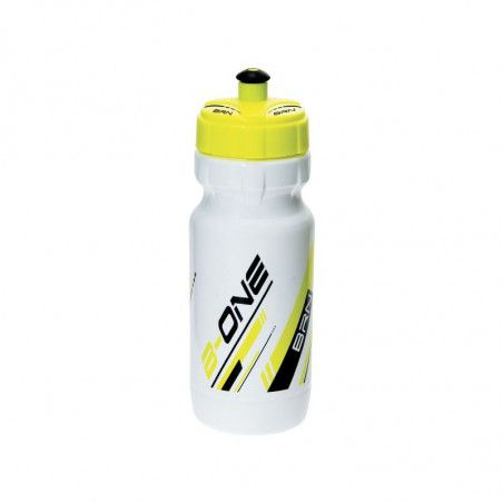 Borraccia BRN B-ONE 600 ml. - Bianca/giallo fluo bike store