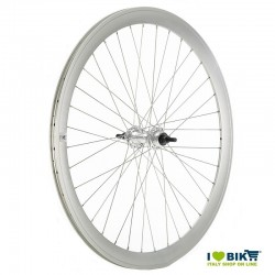 Coppia ruote fixed per bici scatto fisso single speed silver opache online shop