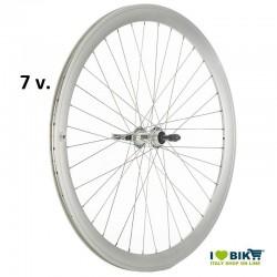 Coppia ruote per bici fixed silver opache a 7 velocità online shop