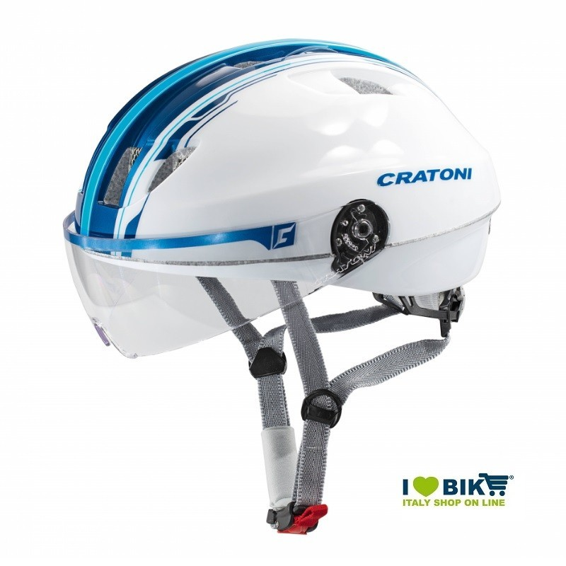 Casco Cratoni City Evolution Light Bianco/Blu taglia S/M online shop