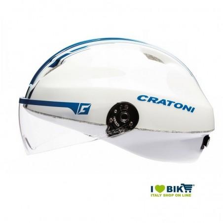 Casco Cratoni City Evolution Light Bianco/Blu taglia M/L online shop