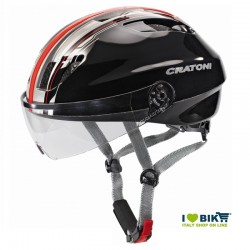 Casco Cratoni City Evolution Light nero/rosso taglia M/L bike store