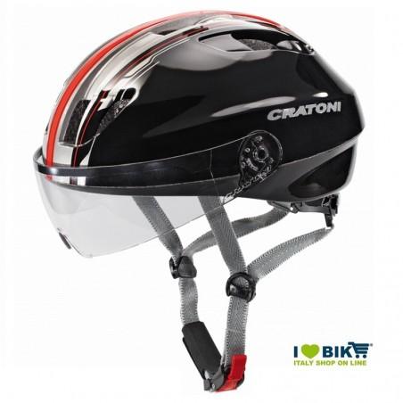 Casco Cratoni City Evolution Light nero/rosso taglia M/L bike store