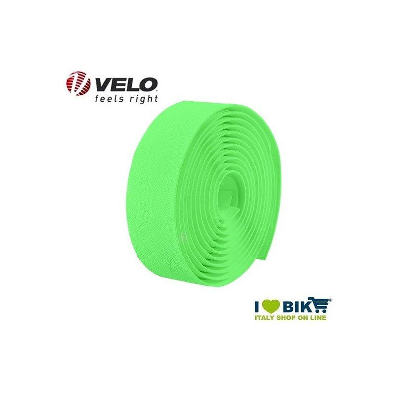 Handlebar tape Velo Gel Diamond Fluo Green  - 1