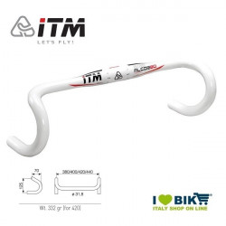 Handlebar race ITM Alcor 80 Wing white 400 mm bike store