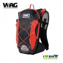Zaino cicloturismo Wag COLORS nero/rosso bike shop