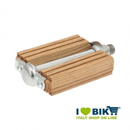 Pedali vintage bici R in legno larice naturale online shop