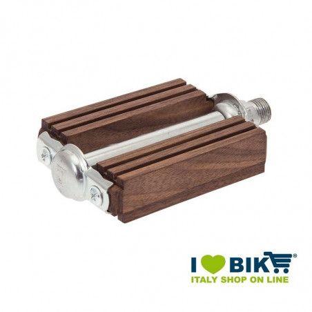 Pedali vintage bici R in legno noce online shop