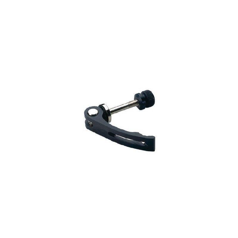Saddle locking aluminum 6 mm black  - 1