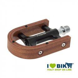 Pedali bici vintage Elegance in legno di mongano vendita online