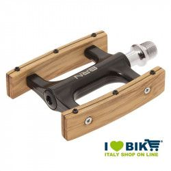 Agile black vintage bike pedals made of olive wood online sale