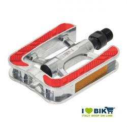 Pedali BRN City bike in alluminio con gomma antiscivolo rossa bike shop