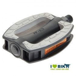 Couple city bike pedals black resin BRN Riviera online with gray slip rubber shop