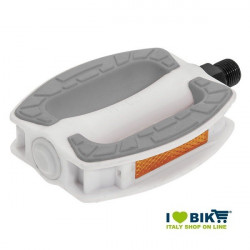 Couple city bike pedals white resin BRN Riviera online with gray slip rubber shop