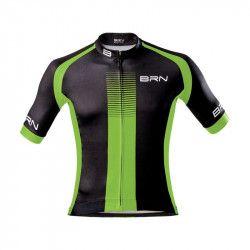 Maglia ciclismo nero verde fluo BRN abbigliamento shop