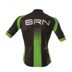 Maglia ciclismo nero verde fluo BRN abbigliamento online