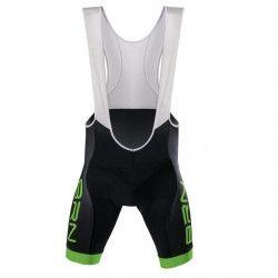 Bernardi Pantalone ciclista nero verde fluo BRN con bretelle Uomo on line