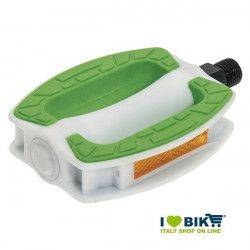 Couple city bike pedals in white resin BRN Riviera with green resin online shop