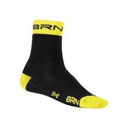 Calzino Ciclismo BRN  nero/giallo fluo