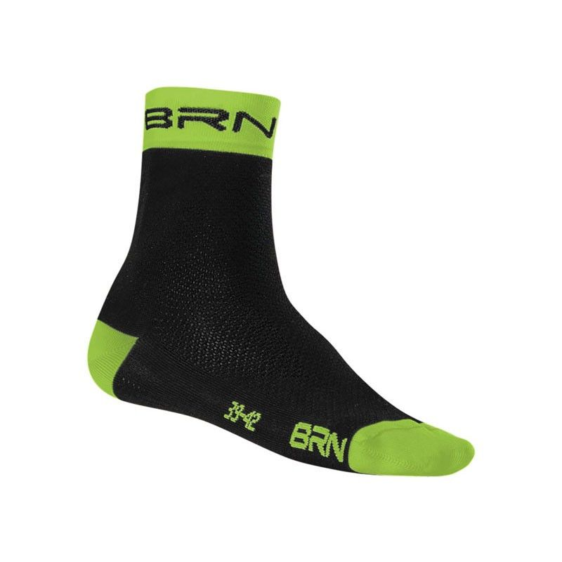 Calzino Ciclismo BRN black / verde fluo
