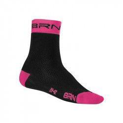Sock Cycling BRN black / red