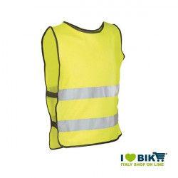 Gilet per bicicletta rinfrangente omologato giallo online shop
