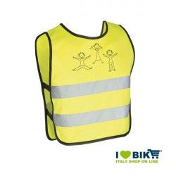 Gilet per bicicletta rinfrangente omologato giallo kids taglia XXS online shop