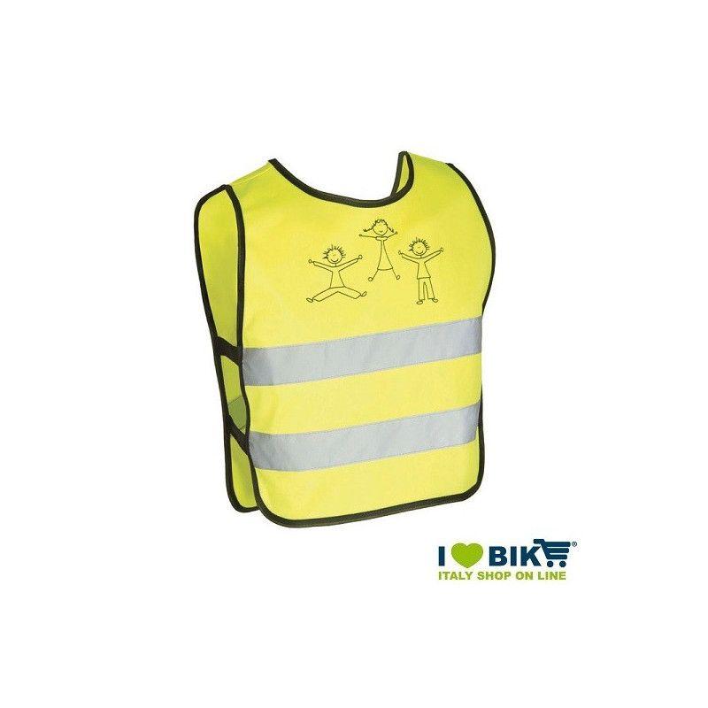 Reflective vest Bike Yellow approved kids size XXS online shop