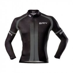 Maglia ciclismo BRN invernale grigio nera