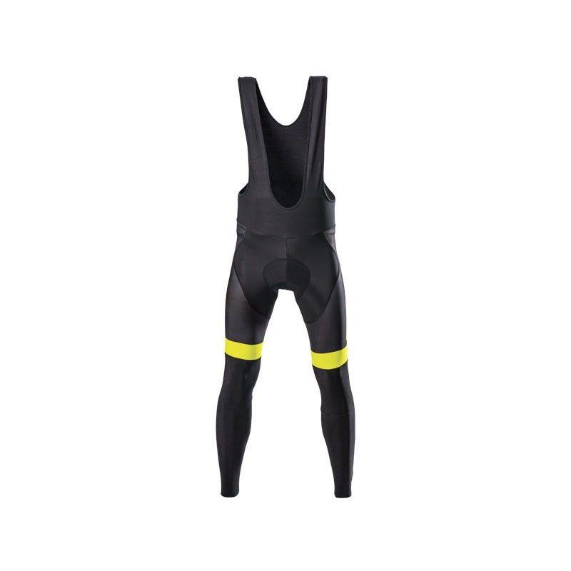 Pantalone ciclista invernale nero giallo fluo