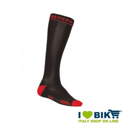 Compressive stockings Cycling BRN black / red online shop