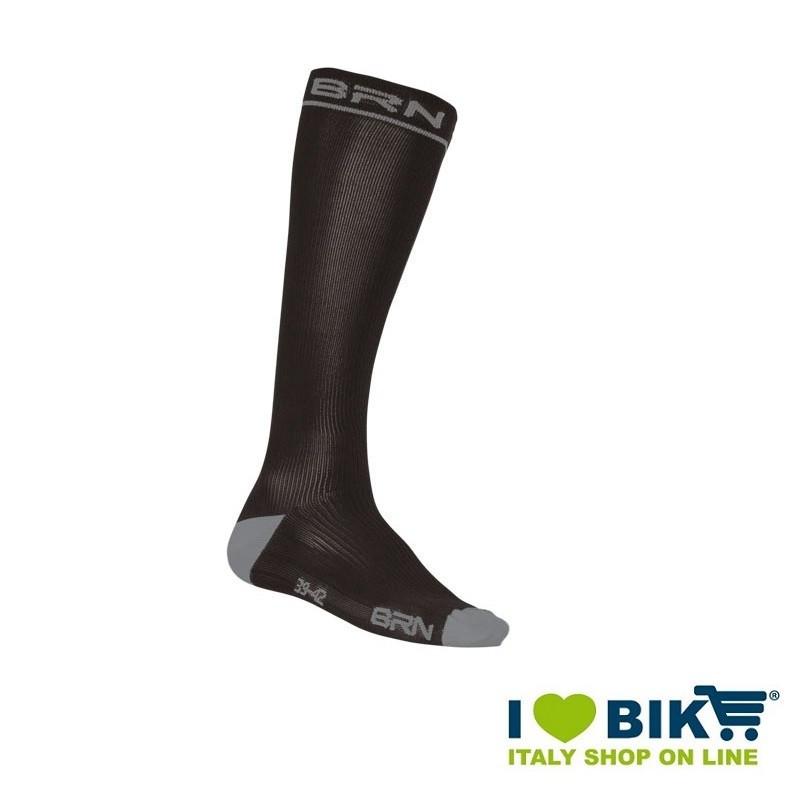Calze Compressive da Ciclismo BRN nero/grigio online shop