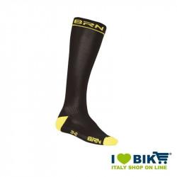 Calze Compressive da Ciclismo BRN nero/giallo fluo online shop