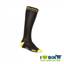 Compression socks Cycling BRN black / fluo yellow online store